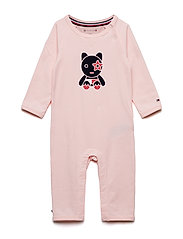 BABY MASCOT COVERALL - STRAWBERRY CREAM
