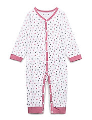 BABY PREPPY COVERALL - APPLE RED/MULTI