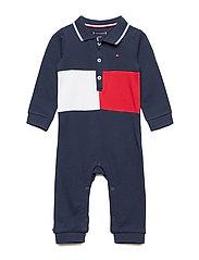 BABY BOY FLAG POLO C - BLACK IRIS/MULTI