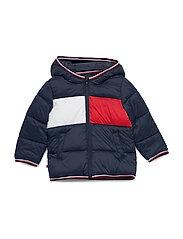 BABY FLAG PUFFER JACKET - TWILIGHT NAVY
