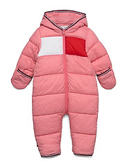 BABY FLAG SKISUIT - ROSEY PINK