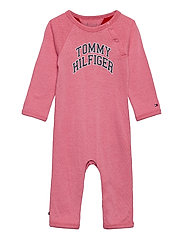 BABY RAGLAN COVERALL L/S - ROSEY PINK
