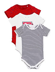 BABY 3 PACK BODY S/S GIFTPACK - DEEP CRIMSON