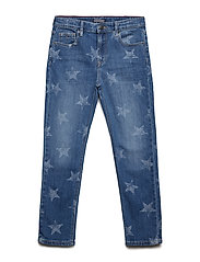UNISEX DENIM PANTS M - MID BLUE STAR STRETCH