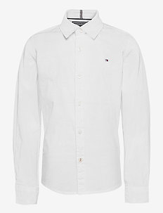BOYS SOLID STRETCH POPLIN SHIRT L/S - skjorter - bright white