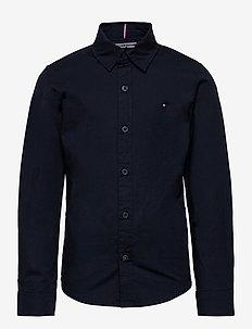 BOYS SOLID STRETCH POPLIN SHIRT L/S - skjortor - sky captain