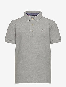 BOYS TOMMY POLO S/S - polo shirts - grey heather