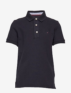 BOYS TOMMY POLO S/S - koszulki polo - sky captain