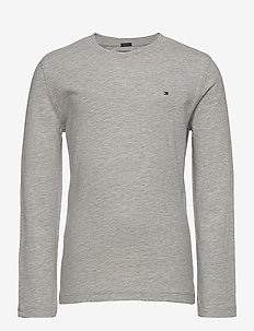 BOYS BASIC CN KNIT L - long-sleeved t-shirts - grey heather