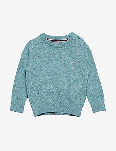 ESSENTIAL KIDS CREW NECK SWEATER - knitwear - green-blue slate
