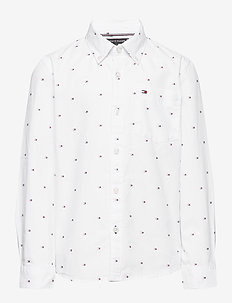 FLAG OXFORD SHIRT L/ - shirts - bright white