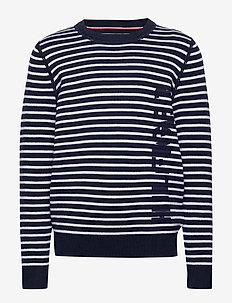 HILFIGER STRIPE SWEATER - knitwear - blue stripe 01