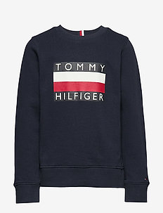 ESSENTIAL HILFIGER SWEATSHIRT - BLACK IRIS