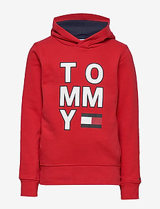 MULTI AW GRAPHIC HOODIE - RACING RED