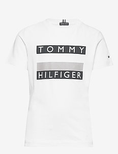 ESSENTIAL HILFIGER TEE S/S - BRIGHT WHITE