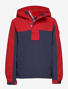 COLORBLOCK POPOVER - veste coupe-vent - twilight navy / deep crimson