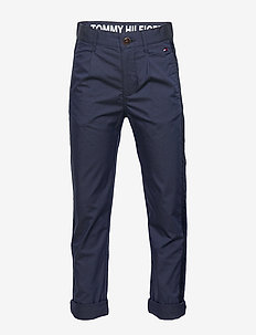 PLEATED TAPE CHINO - trousers - twilight navy 654-860