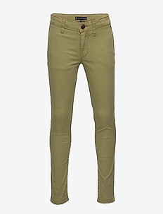 ESSENTIAL SKINNY CHI - pantalons - uniform olive 548-640