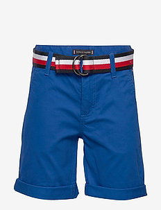 ESSENTIAL BELTED CHI - shorts - lapis lazuli