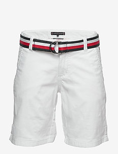ESSENTIAL BELTED CHINO SHORTS - shorts - white 658-170