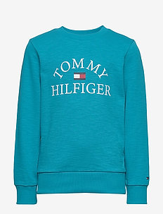 ESSENTIAL LOGO SWEAT - sweatshirts - exotic teal 326-650
