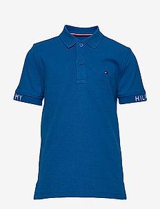 SLEEVE TEXT POLO S/S - polo shirts - lapis lazuli 431-880