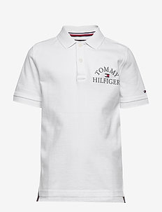 ESSENTIAL LOGO CHEST POLO S/S - poloer - white 658-170