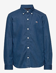 DENIM SHIRT L/S - skjorter - denim dark 01