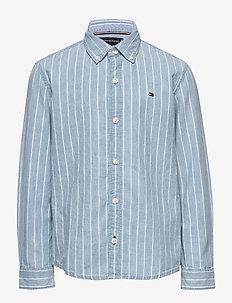 DENIM STRIPE SHIRT L - shirts - denim light 01