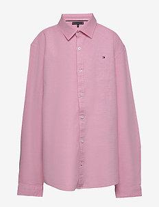 STRUCTURED LINEN SHI - shirts - light cerise pink
