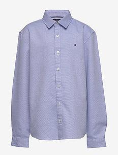 STRUCTURED LINEN SHI - shirts - regatta/white
