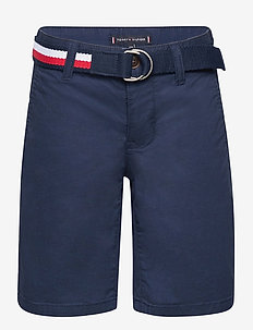 ESSENTIAL BELTED CHINO SHORTS - shorts - twilight navy