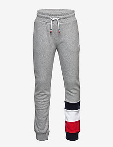 GLOBAL STRIPE COLORBLOCK PANTS - sweatpants - mid grey htr