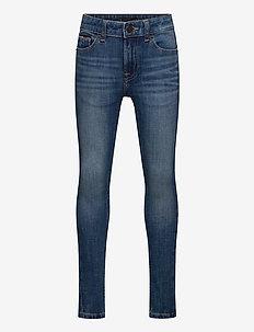 SIMON SUPER SKINNY - DYNBLU - jeans - dynamic med blue 4waystr