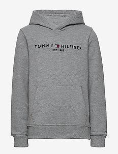 ESSENTIAL HOODIE - hoodies - mid grey htr