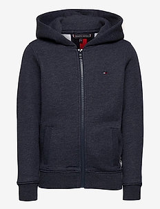 BACK INSERT HOODED FULL-ZIP - hoodies - twilight navy