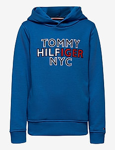 TH NYC GRAPHIC HOODIE - hettegensere - dynamic blue