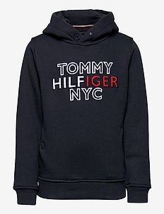 TH NYC GRAPHIC HOODIE - hettegensere - twilight navy