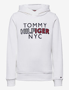 TH NYC GRAPHIC HOODIE - hoodies - white