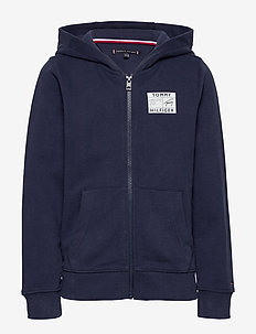 REFLECTIVE GRAPHIC FULL-ZIP - hoodies - twilight navy