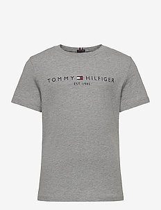 ESSENTIAL LOGO TEE S/S - short-sleeved - mid grey htr