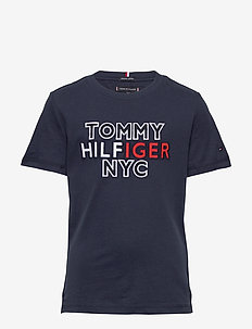 TH NYC GRAPHIC TEE S/S - krótki rękaw - twilight navy