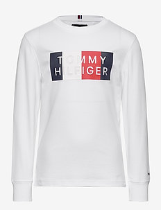 GLOBAL STRIPE GRAPHIC TEE L/S - sweatshirts - white