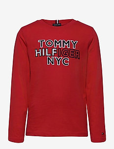 TH NYC TEE TEE L/S - sweatshirts - deep crimson
