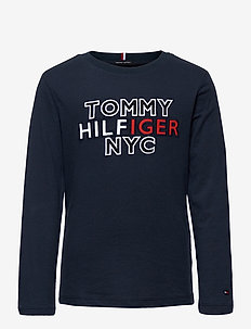 TH NYC TEE TEE L/S - sweatshirts - twilight navy