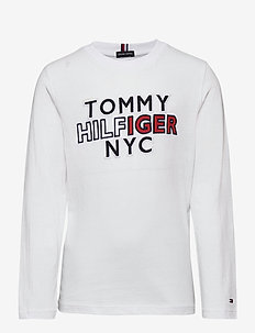 TH NYC TEE TEE L/S - sweatshirts - white