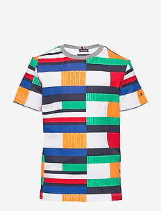 AOP BRIGHT FLAG TEE S/S - short-sleeved - blue allover 01