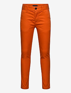 ESSENTIAL SLIM CHINO TH FLEX - bukser - bonfire orange