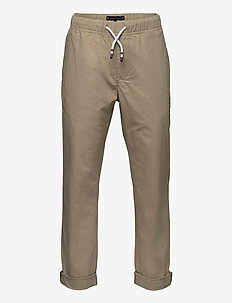 STRETCH POPLIN PULL ON PANTS - sweatpants - silt