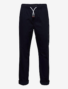 STRETCH POPLIN PULL ON PANTS - sweatpants - twilight navy